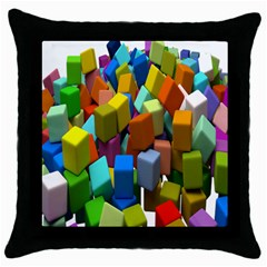 Cubes Assorted Random Toys Throw Pillow Case (Black)