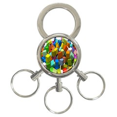 Cubes Assorted Random Toys 3-Ring Key Chains