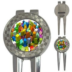 Cubes Assorted Random Toys 3-in-1 Golf Divots
