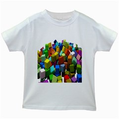 Cubes Assorted Random Toys Kids White T-Shirts