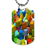 Cubes Assorted Random Toys Dog Tag (One Side) Front
