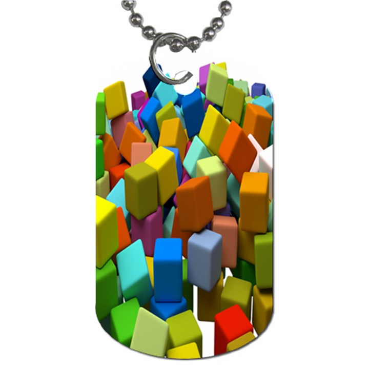 Cubes Assorted Random Toys Dog Tag (One Side)