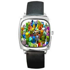 Cubes Assorted Random Toys Square Metal Watch