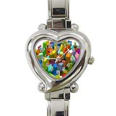 Cubes Assorted Random Toys Heart Italian Charm Watch