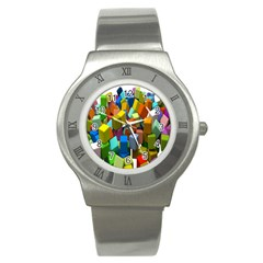 Cubes Assorted Random Toys Stainless Steel Watch