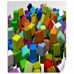 Cubes Assorted Random Toys Canvas 16  X 20