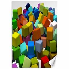 Cubes Assorted Random Toys Canvas 24  x 36