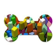 Cubes Assorted Random Toys Dog Tag Bone (One Side)
