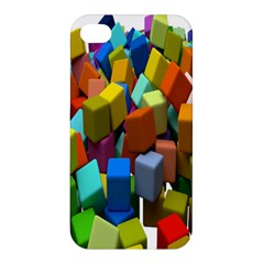 Cubes Assorted Random Toys Apple Iphone 4/4s Hardshell Case