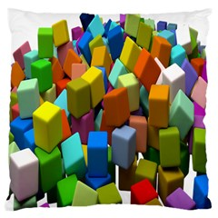 Cubes Assorted Random Toys Large Cushion Case (Two Sides)