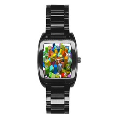 Cubes Assorted Random Toys Stainless Steel Barrel Watch