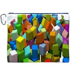 Cubes Assorted Random Toys Canvas Cosmetic Bag (XXXL)