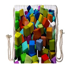 Cubes Assorted Random Toys Drawstring Bag (Large)