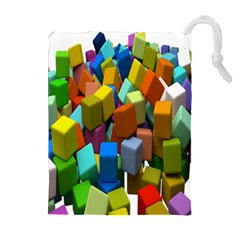 Cubes Assorted Random Toys Drawstring Pouches (Extra Large)