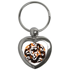 Ornament Dragons Chinese Art Key Chains (heart)