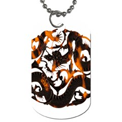 Ornament Dragons Chinese Art Dog Tag (One Side)