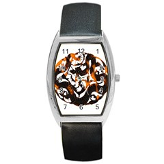 Ornament Dragons Chinese Art Barrel Style Metal Watch