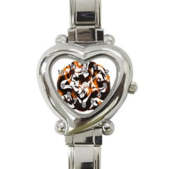 Ornament Dragons Chinese Art Heart Italian Charm Watch
