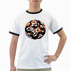 Ornament Dragons Chinese Art Ringer T-Shirts