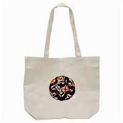 Ornament Dragons Chinese Art Tote Bag (Cream)