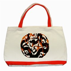 Ornament Dragons Chinese Art Classic Tote Bag (Red)