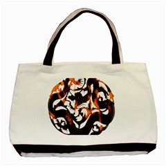 Ornament Dragons Chinese Art Basic Tote Bag (Two Sides)
