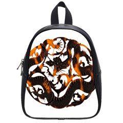 Ornament Dragons Chinese Art School Bags (Small)