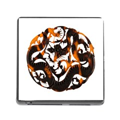 Ornament Dragons Chinese Art Memory Card Reader (Square)