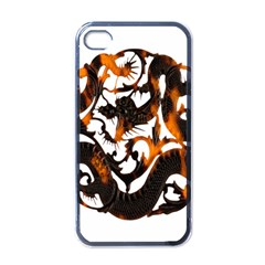 Ornament Dragons Chinese Art Apple Iphone 4 Case (black)