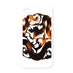 Ornament Dragons Chinese Art Apple iPhone 4 Case (White)