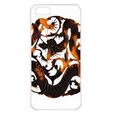 Ornament Dragons Chinese Art Apple Iphone 5 Seamless Case (white)