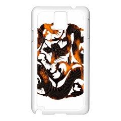 Ornament Dragons Chinese Art Samsung Galaxy Note 3 N9005 Case (white)