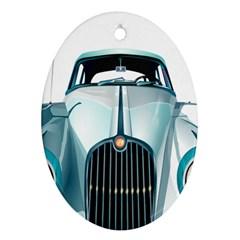 Oldtimer Car Vintage Automobile Ornament (Oval)