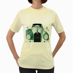 Oldtimer Car Vintage Automobile Women s Yellow T-Shirt