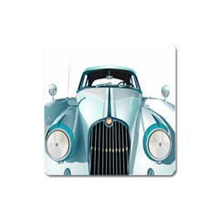 Oldtimer Car Vintage Automobile Square Magnet