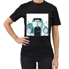 Oldtimer Car Vintage Automobile Women s T-Shirt (Black) (Two Sided)