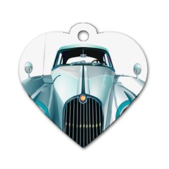 Oldtimer Car Vintage Automobile Dog Tag Heart (One Side)