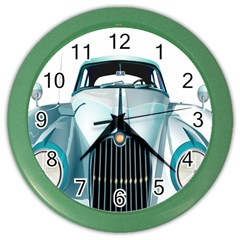 Oldtimer Car Vintage Automobile Color Wall Clocks