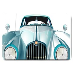 Oldtimer Car Vintage Automobile Large Doormat