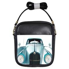 Oldtimer Car Vintage Automobile Girls Sling Bags