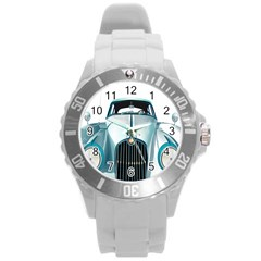 Oldtimer Car Vintage Automobile Round Plastic Sport Watch (L)