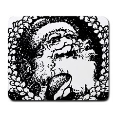 Santa Claus Christmas Holly Large Mousepads