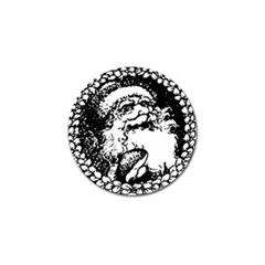 Santa Claus Christmas Holly Golf Ball Marker (10 pack)