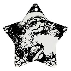 Santa Claus Christmas Holly Star Ornament (two Sides)