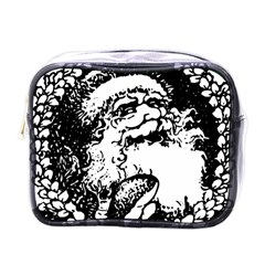 Santa Claus Christmas Holly Mini Toiletries Bags