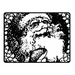 Santa Claus Christmas Holly Fleece Blanket (Small)