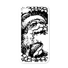 Santa Claus Christmas Holly Apple iPhone 4 Case (White)