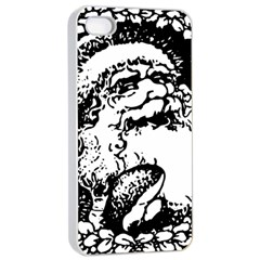 Santa Claus Christmas Holly Apple iPhone 4/4s Seamless Case (White)