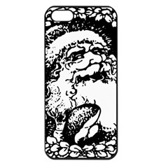 Santa Claus Christmas Holly Apple iPhone 5 Seamless Case (Black)