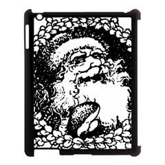 Santa Claus Christmas Holly Apple Ipad 3/4 Case (black)